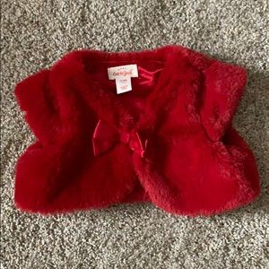 Red faux fur Cat&Jack 0-3 month -holiday